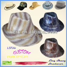 2013 Newest Shining Sequins Fabric Fedora Hat fashion vintage hats woolen hats,LSF26