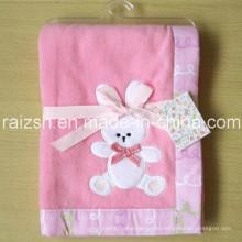Fleece Blanket Baby Pink Bunny Blanket for Wholesale