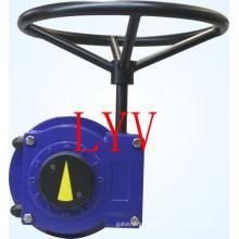 Schwenkbares Schneckengetriebe mit Ventilantrieb