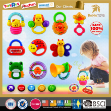 Big promotion!2015 Baby rattle 10 PCS new plastic baby rattle toy