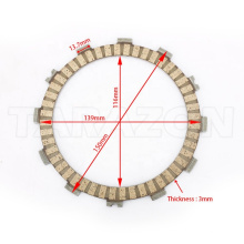 3.3mm thickness Manufactory Directly Sell Motorcycle Clutch plate for HONDA KAWASAKI SUZUKI