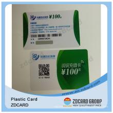 Plastic Card Qr Code/Plastic Business Card