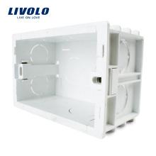 Белые пластиковые материалы, 101мм * 67мм США Стандартная внутренняя монтажная коробка для настенного светильника 118мм * 72мм