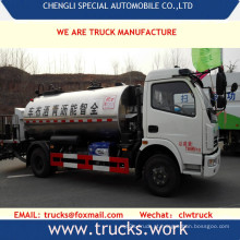 4x2 4x4 de borracha de 6000L betume caminhão pulverizador