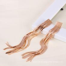 Xuping color oro rosa pendiente de moda de cadena larga (23469)