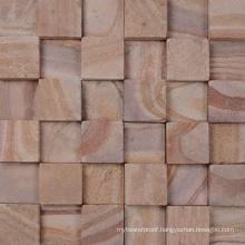 Latvia Villa Courtyard Wall Decorative Sandstone Mosaic Tile