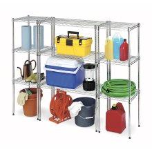 Sistema ajustável de prateleiras de armazenamento de garagem de metal leve, Aprovação NSF