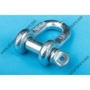 Galvanized G210 Drop Forged Screw Pin D Shackle