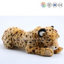 Travesseiro de tigre macio de pelúcia
