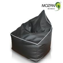 Sofá de cuero de la falda del sofá de la haba seccional