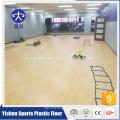 Padrão de madeira ginásio área de exercícios aeróbicos pvc esportes piso de plástico