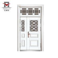 2016top качество металлическая дверь кожа