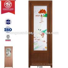 Qualität kundenspezifische wasserdichte PVC mattierte Glas Türen für WC oder Bad oder Küche
