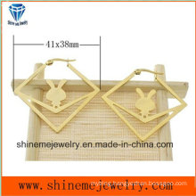 Fashion Body Jewelry Vaccuum Plating Gold Stud Earring (ERS6975)