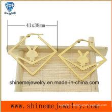 Мода ювелирные изделия тела вакуумного золота Плакировкой серьги (ERS6975)