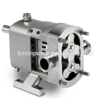 Stainless steel electric horizontal or vertical acid resistant sanitary lobe pumps with self priming