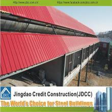 Precio bajo del edificio de estructura de acero galvanizado