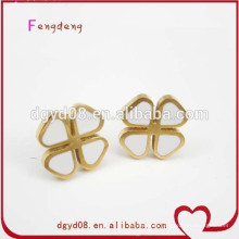 316 nice enamel stainless steel gold earring wholesale