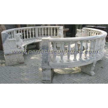 Piedra de mármol antigua silla de jardín para muebles de exterior (qtc061)