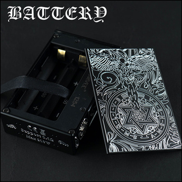Engraved Dual 18650 Guardian Angel Box Mod