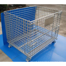 Hot Galvanised or Powder Painted Stackable Wire Container
