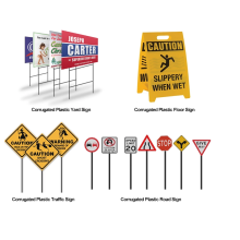 Cheap price polypropylene plastic road traffic signs