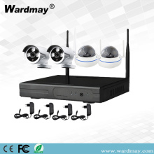 4CH 1.0 / 2.0MP Beveiliging Wireless Wifi NVR Kits
