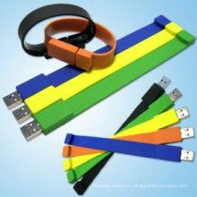 bracelet usb en silicone