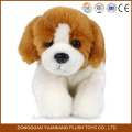 Cães de brinquedo macio de pelúcia recheados animados com cabeça grande
