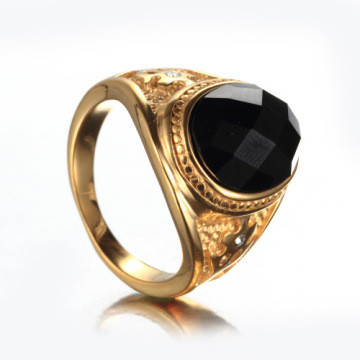 Disesuaikan Mens College Ring With Big Stone