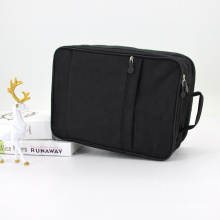 Eco Friendly Multicolour Recycled Cotton Makeup Bag For Mens Black Polyester Cosmetic Bag