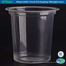 Disposable Custom Printed Clear Milkshake / Smoothie Plastic Cup