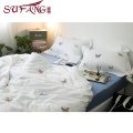 Luxury hotel Factory Directly High 100%cotton 60s Butterfly embroidery sets top 5 luxury 5 star hotel household home bedding s