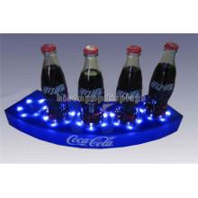 Merchandising Custom Logo Beleuchtete Tischplatte Acryl 5 Parfüm Flasche Flüssige Flasche Display Stand