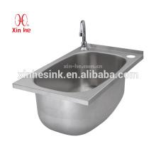 Edelstahl SUS 304 Single Bowl Wäschewaschbecken