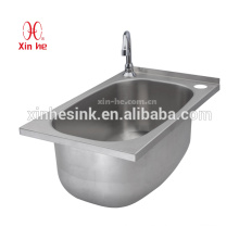 NSF Stainless Steel Hand Wash Sink with Tap Holes, Stainless Steel Hand Wash Sink for Commercial Kitchen