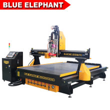 Easy Maintenance Big Table Size 2000*3000mm Automatic Wood Cutting Machine with Oscillating Knife
