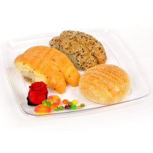 Plastic Plate Disposable Tray 30cm Rounded&Nbsp; Square Tray
