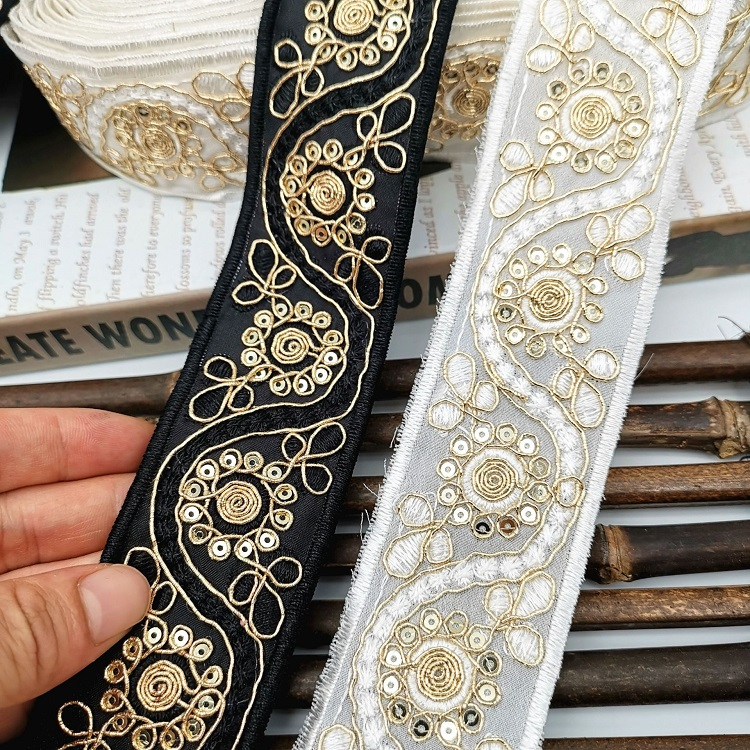 Ribbon Lace Embroidery Flower