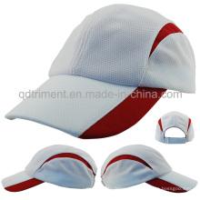 Suave tela de malla cómoda de carreras de gorra de béisbol deportivo (TMR0615)