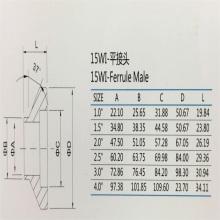 15WI ferrule male SS304