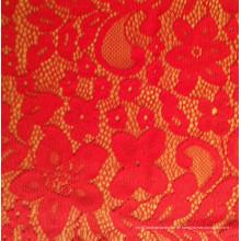 Helle rote Farbe Spitze Kleid Gewebe für Hochzeit