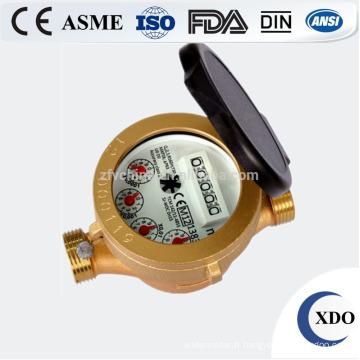 Chaude à jet unique de vente usine prix Dn15-32 compteur d'eau type humide en laiton
