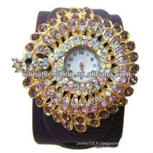 Élégantes femmes strass brillant bling bling montres-braguelles moins chères