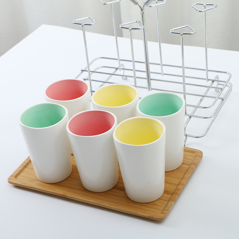 Six Piece Mug with Coffee Stand