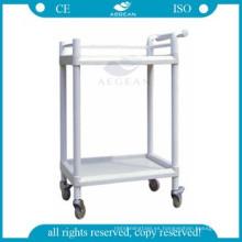AG-UTA05 dos estantes aprobados carrito de la clínica de lujo lujosa