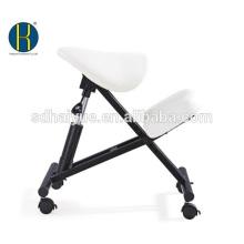 HY5001-1 Ergonomischer weißer Kniend Stuhl aus PU für Büro