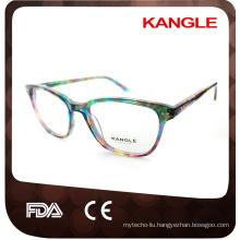 Lady style high fashion acetate optical frames and eyeglasses eyewear
