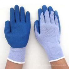 De Buena Calidad Guantes de seguridad de trabajo de trabajo de protección revestidos de látex