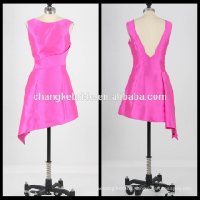 Real Pictures Of Cocktail Dress Satin Short Prom Dress irregular Party dress